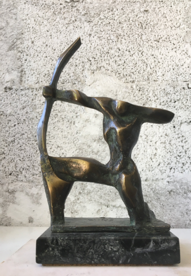 SAGITTARIUS, H20cm, бронзова скулптура, Автор: Стойчо Никифоров