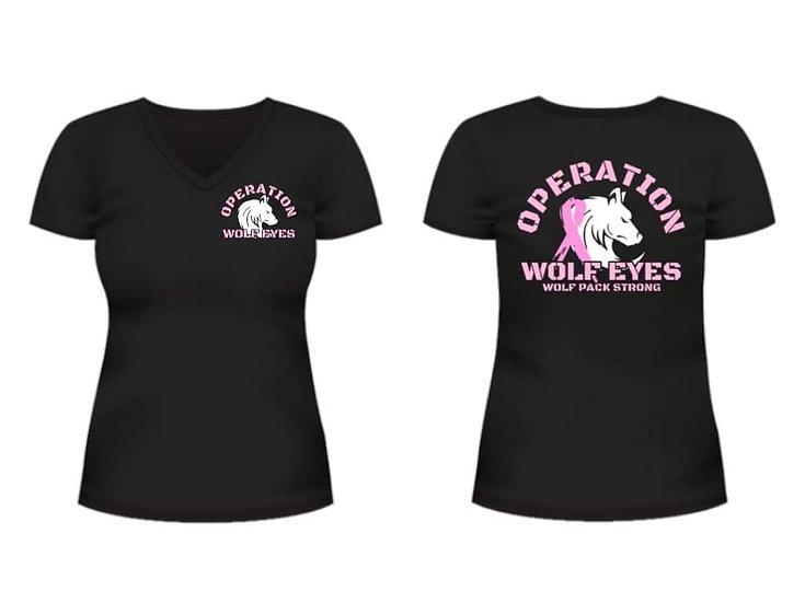 Operation Wolf Eyes Cancer Awareness T-Shirt