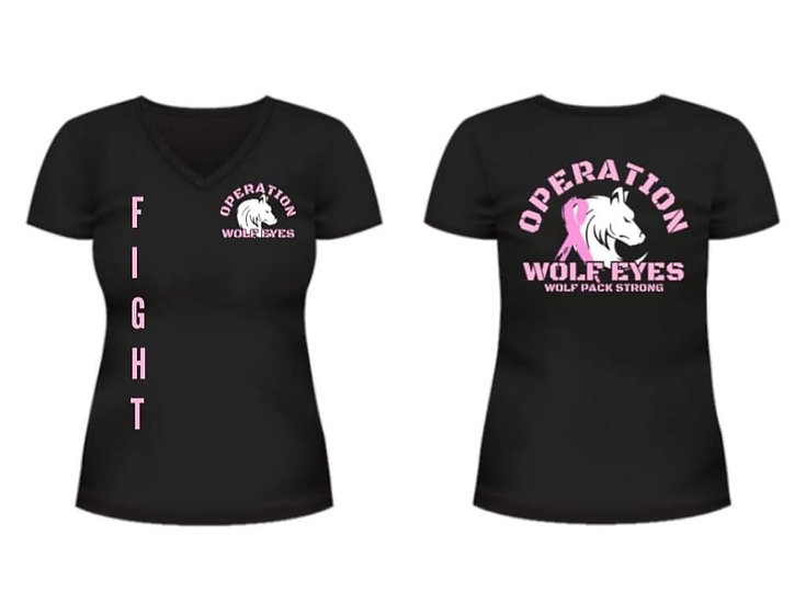 Operation Wolf Eyes FIGHT Cancer T-Shirt