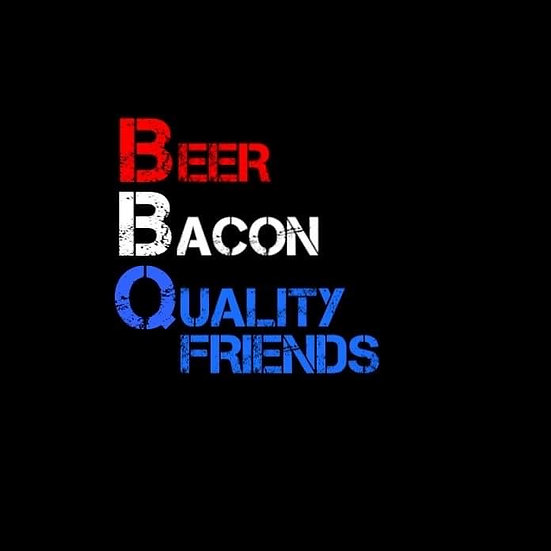 BEER BACON QUALITY FRIENDS T-SHIRT