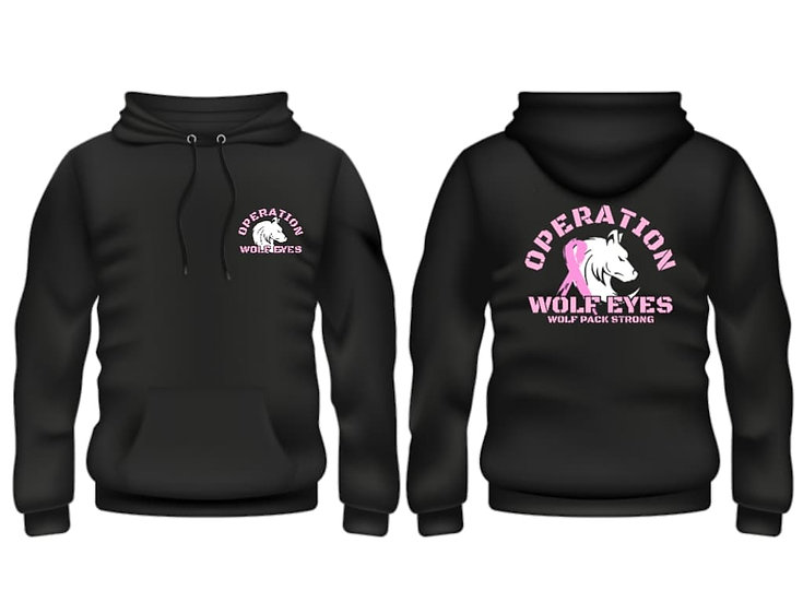 Breast Cancer Operation Wolf Eyes Hoodie