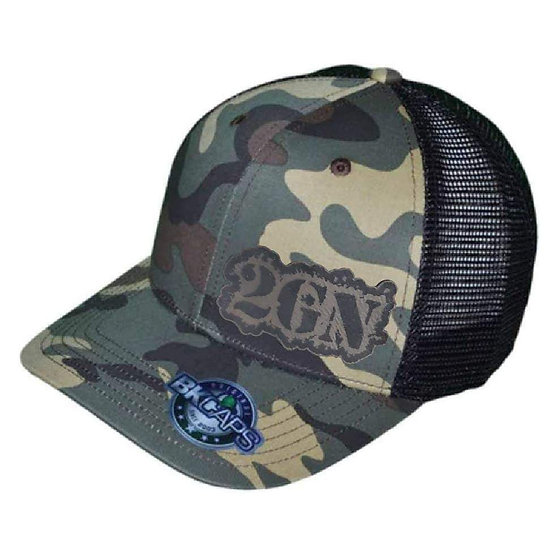 2GN Words Camo Hat with grey patch (ORDER #3)