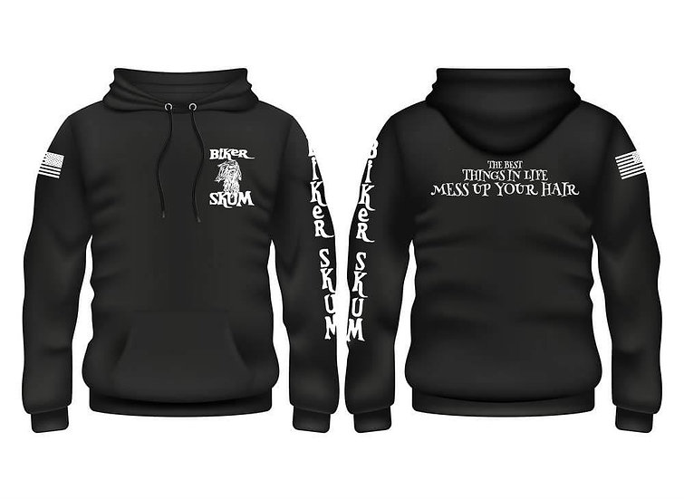 The Best Thing In Life Mess Up Your Hair Hoodie