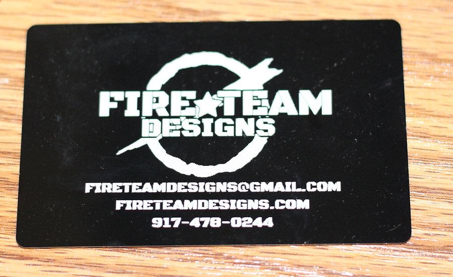 Custom Design Aluminum Engraved Business Cards