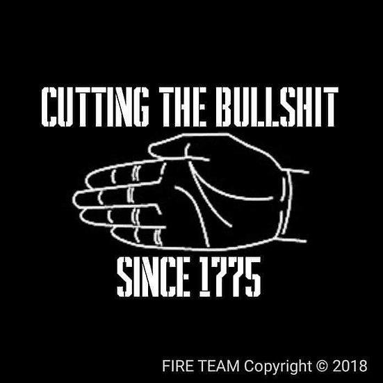 CUTTING THE BULLSHIT SINCE 1775 T-SHIRT