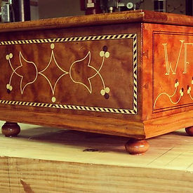 Chester County Bible box._Curly cherry;