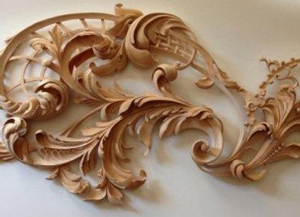 Carving in the Grinling Gibbons style - Alex Grabovetskiy