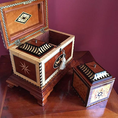 Here's a tea caddy I made._These are a f