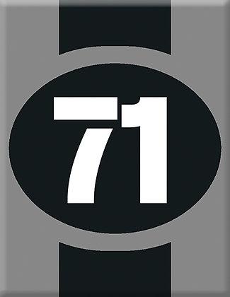 Startnumber-71-gray Emblem
