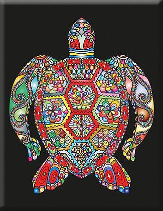 Turtle black and white Emblem