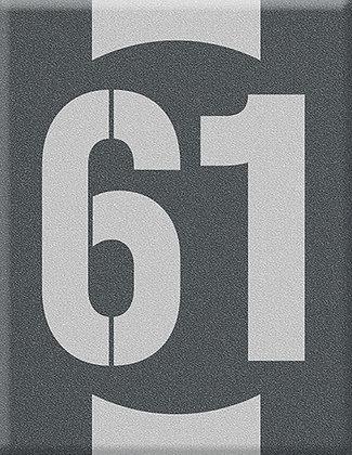 Startnumber-61-gray Emblem