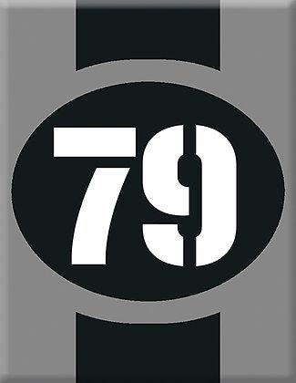 Startnumber-79-сива емблема