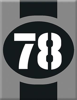 Startnumber-78-gray Emblem