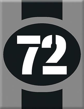 Startnumber-72-gray Emblem