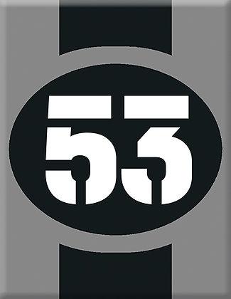 Startnumber-53-сива емблема
