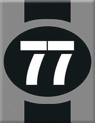 Startnumber-77-сива емблема