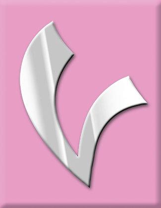 Emblema V-rosa