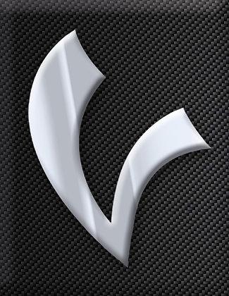 Vespa Emblem Piaggio Kaskade V-Sign-Carbon
