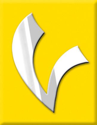 V-жълта емблема