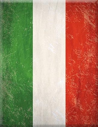 Flag Italia-Retro Emblem