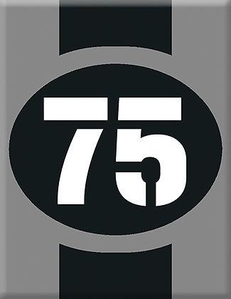 Startnumber-75-сива емблема