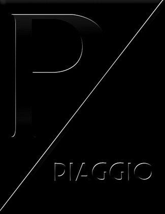 Емблема PIAGGIO Черно-черно