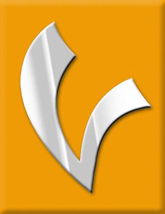 V-светло оранжева емблема