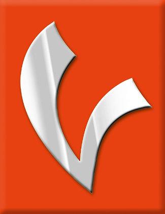 V-оранжева емблема