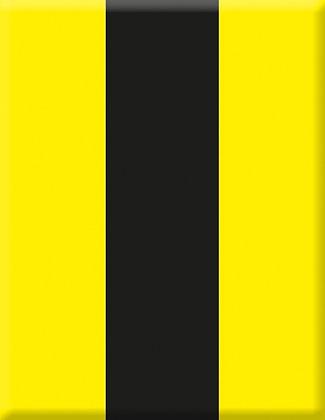 Emblem Vereinswappen gelb-schwarz vertikal