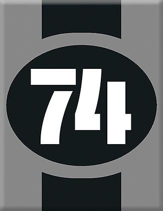 Startnumber-74-gray Emblem