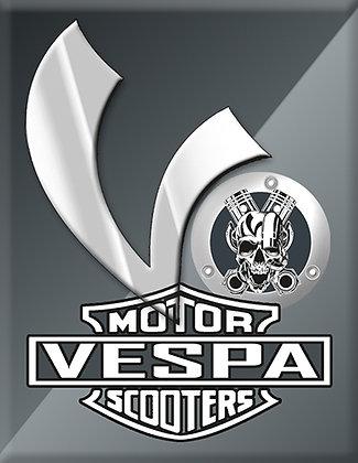 Vespa Kaskade Piaggio V-Emblem grey Motor Scooters