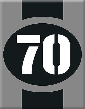 Startnumber-70-gray Emblem