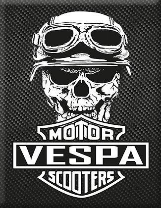 Vespa Kaskade Piaggio Emblem Carbon Motor Scooter Skull
