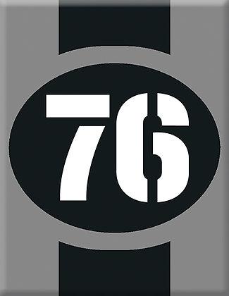 Startnumber-76-gray Emblem
