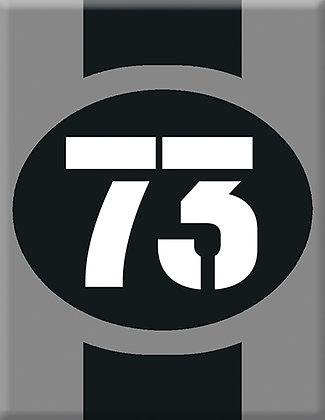 Startnumber-73-gray Emblem