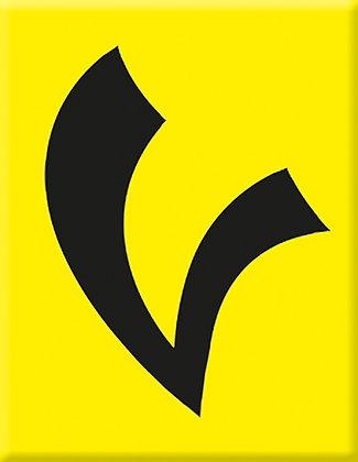 Schwarz-V-Gelb Emblem