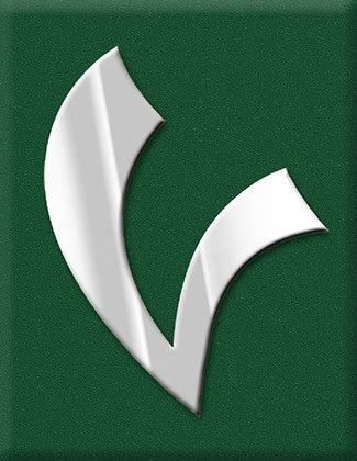 V-зелена емблема