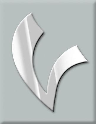 V-светлосива емблема