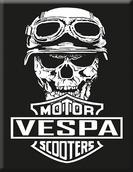 VP-053 Plakette Skull-Motor-Vespa-Schwar