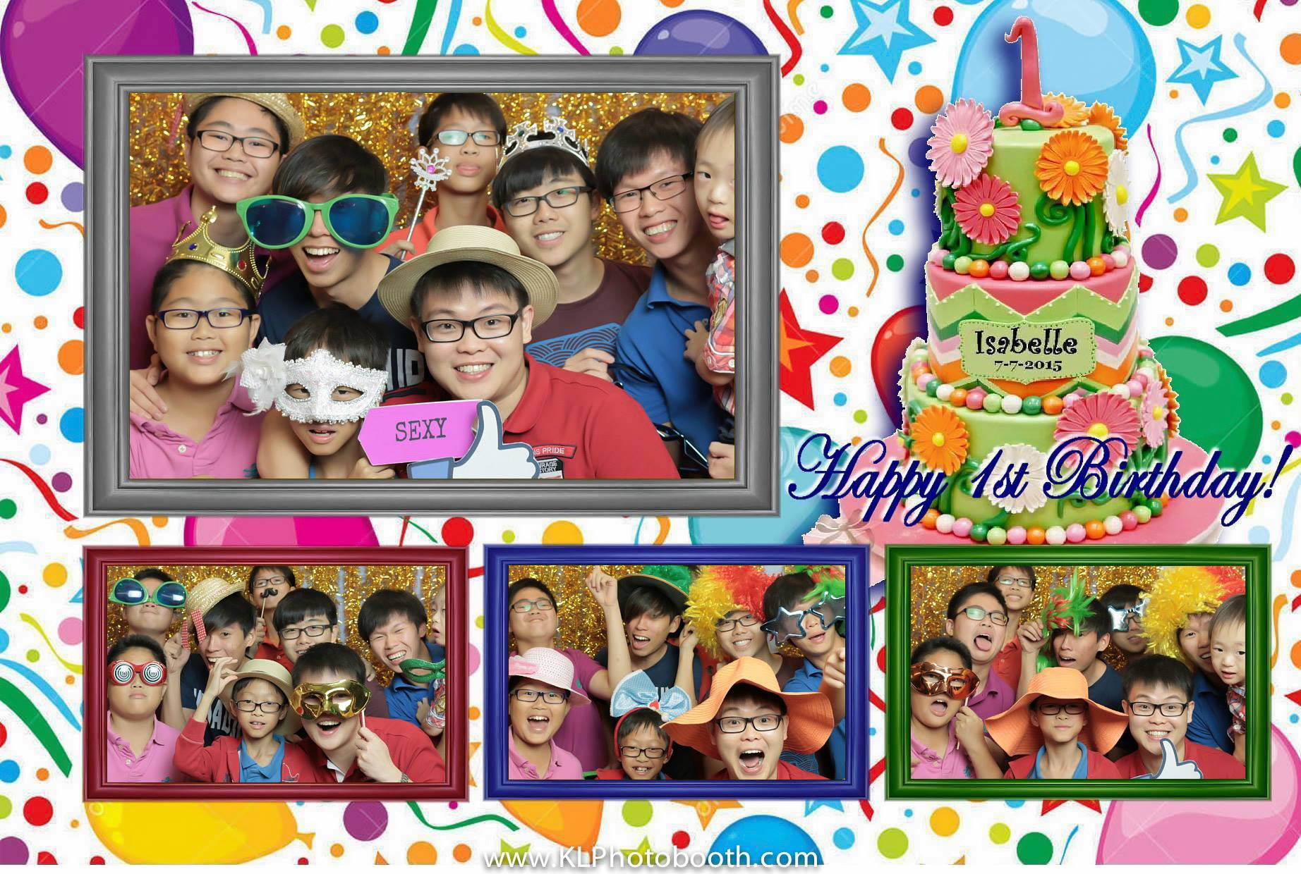 Isabelle's 1st  Birthday Photo Booth