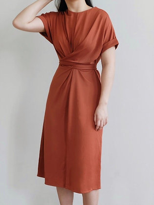Ella Dress : Brick Red(Bata)