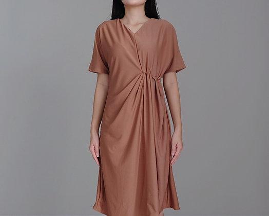 Elise Dress: Brown