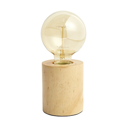 Wood Base Lamp