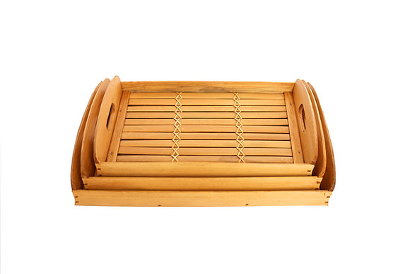 3 stacks set : Bamboo Tray