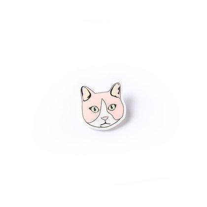 Pin Mungil : Kucing Pink