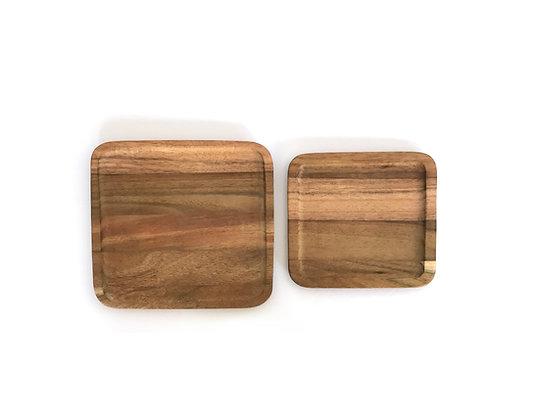 Akasia square tray sets