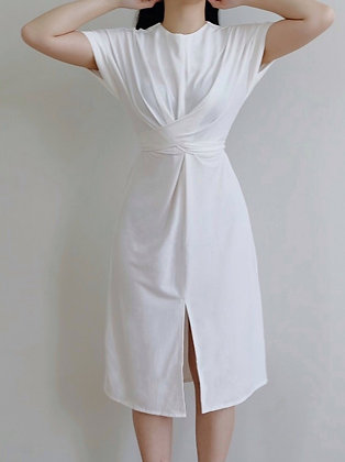 Ella Dress : white