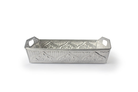 Rectangle tray : SILVER
