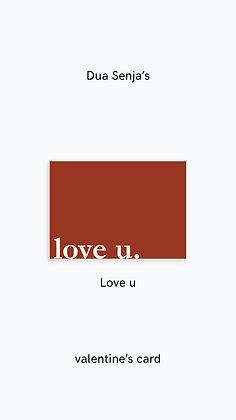 Postcard: love u