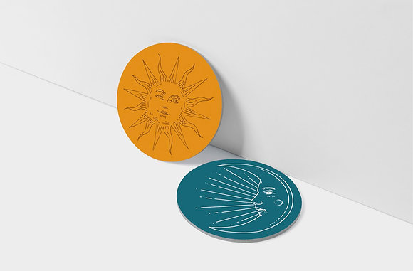 Celestial Coaster set of 2